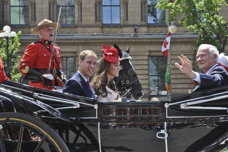Prince William och Kate, Kanada dag royaltyfri foto