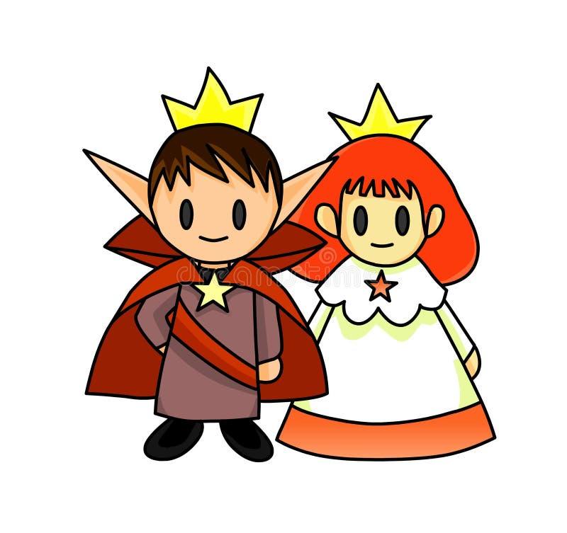 princeprincess royaltyfri illustrationer