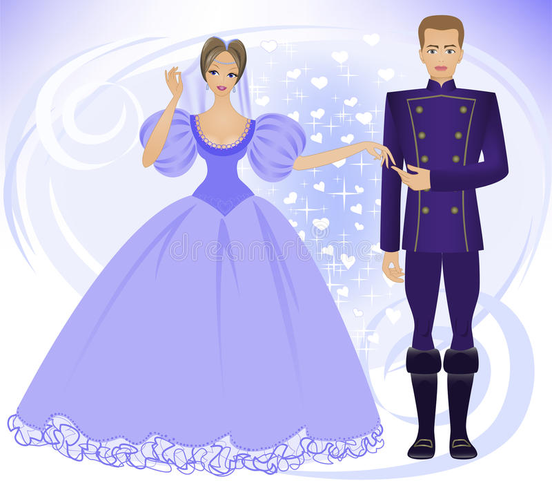 princeprincess vektor illustrationer