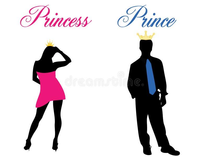 princeprincess stock illustrationer