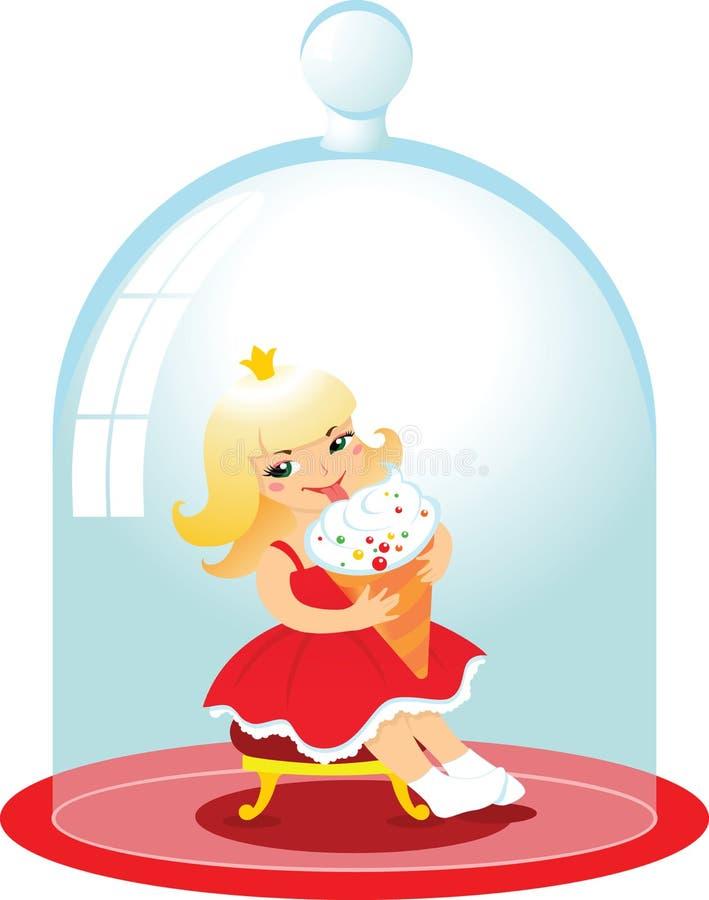 Princesa ilustração stock