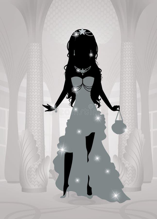 Princesa. ilustração stock