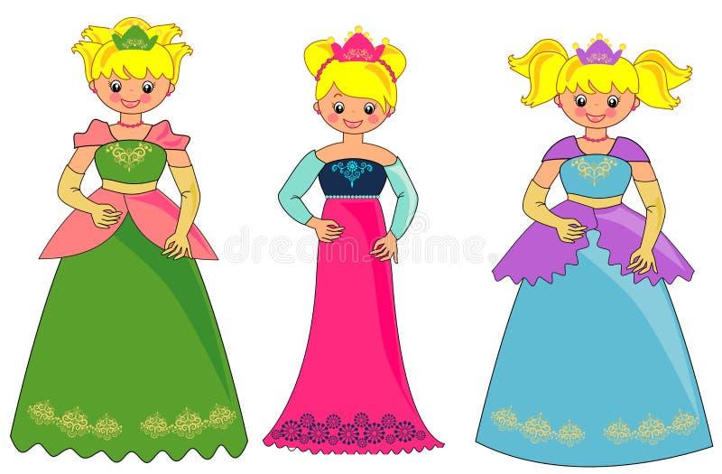Princesa ilustração royalty free