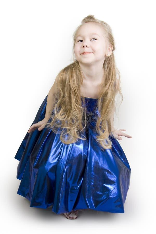 Princesa azul del curtsy. foto de archivo libre de regalías