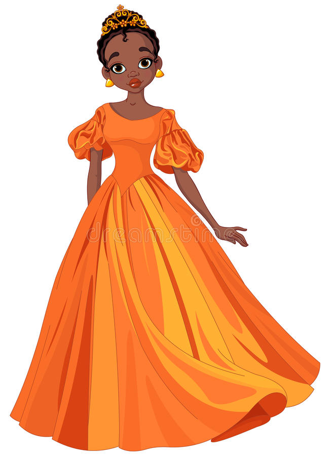 Princesa bonita ilustração royalty free