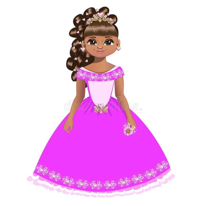 Princesa bonita com diadema ilustração do vetor