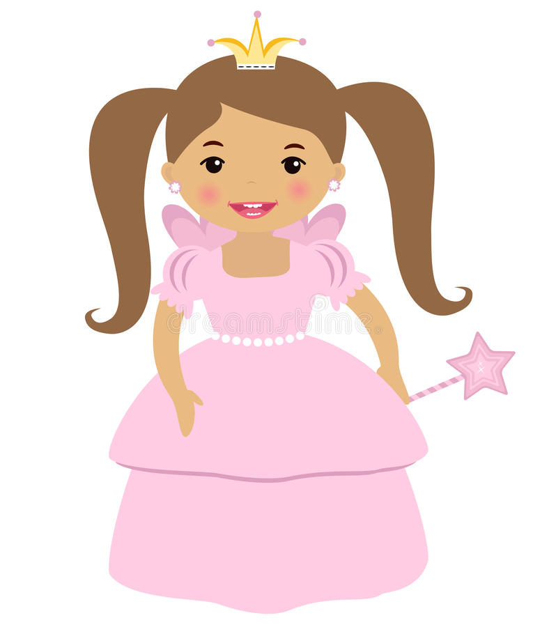 Princesa bonito ilustração royalty free