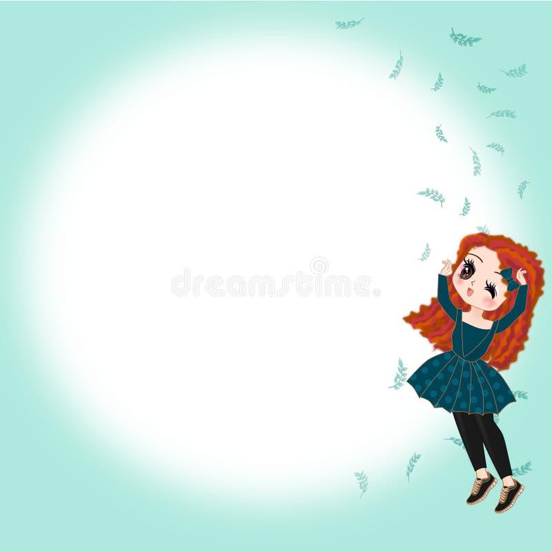Princesa bonito da menina ilustração do vetor