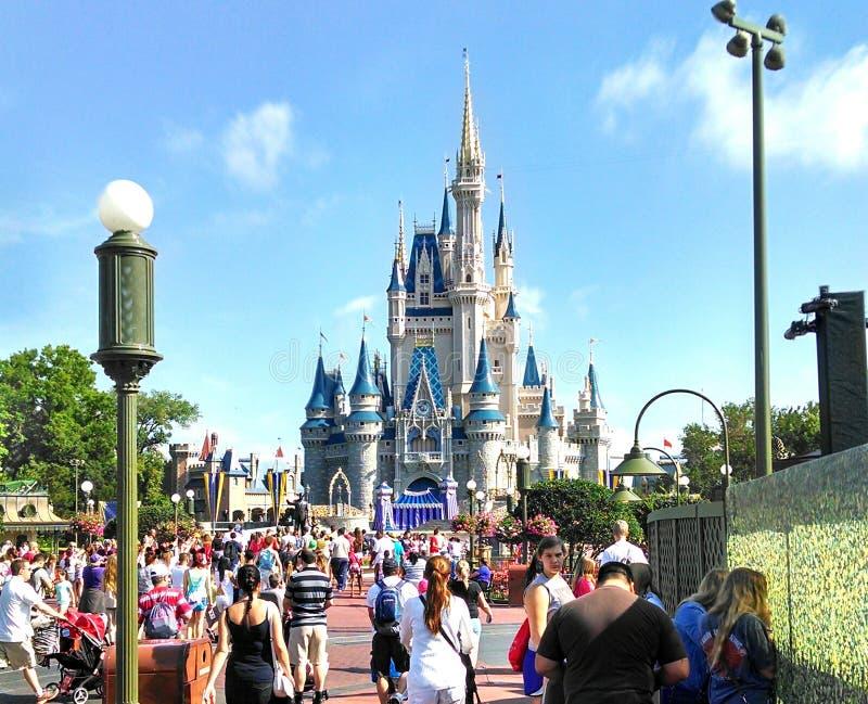 Princesa Castle do mundo de Disney fotos de stock royalty free