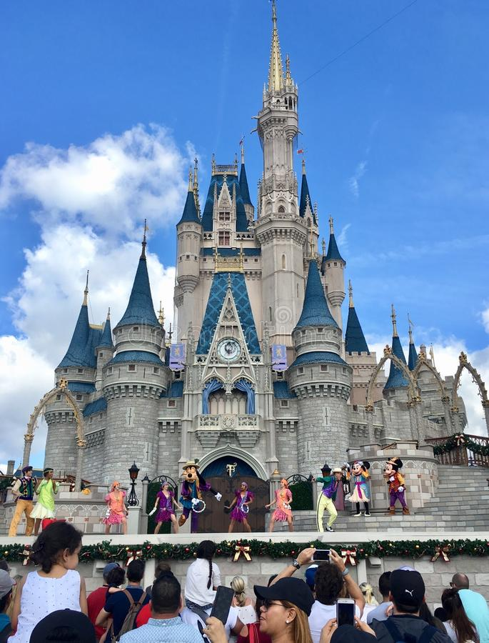 Princesa Castle en el parque mágico del reino del mundo de Disney, Orlando foto de archivo