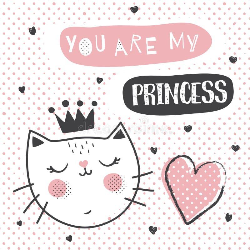 Princesa Cat ilustração do vetor