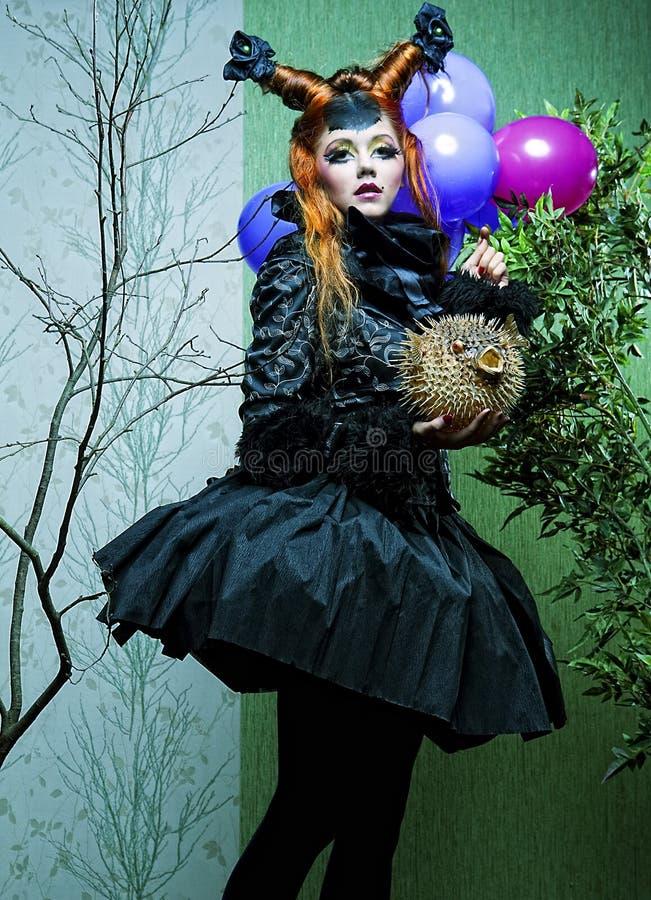 Princesa com balões. imagens de stock