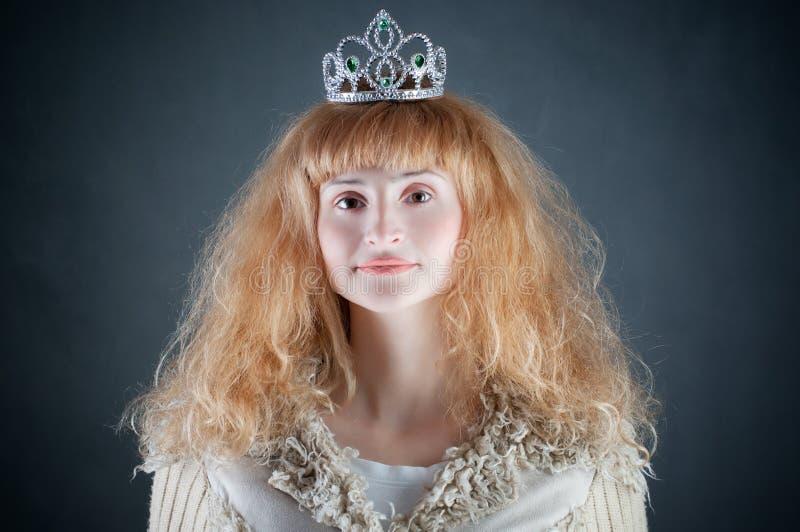 Princesa com coroa imagem de stock