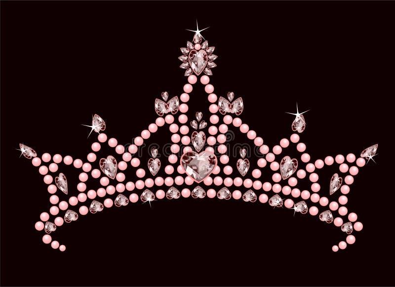 Princesa Coroa ilustração royalty free
