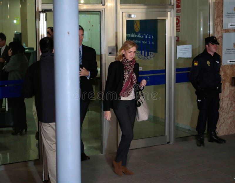 A princesa Cristina da Espanha deixa a corte imagem de stock