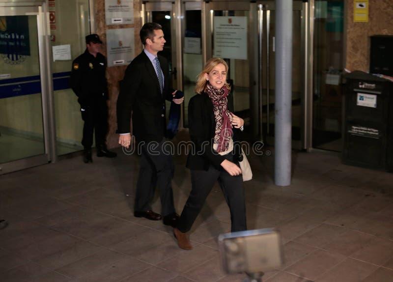 Princesa Cristina da Espanha que deixa a corte legal imagens de stock