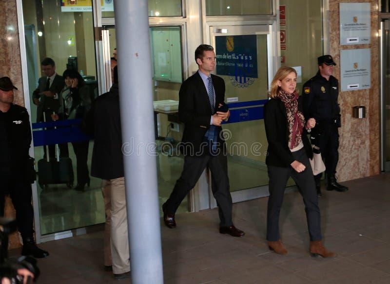 Princesa Cristina da Espanha que leving a corte legal fotografia de stock royalty free