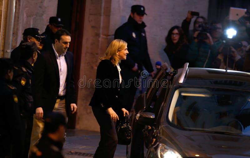 Princesa Cristina de España que deja la corte imagen de archivo