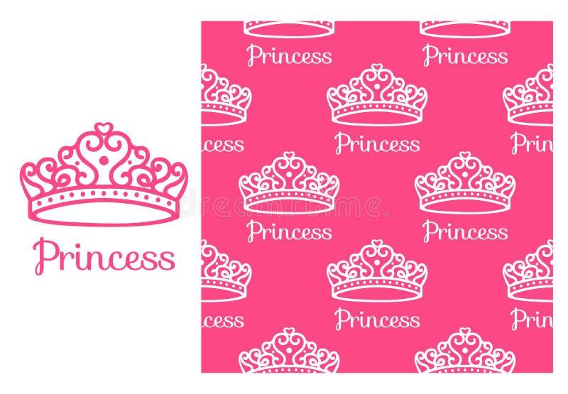 Princesa Crown stock de ilustración