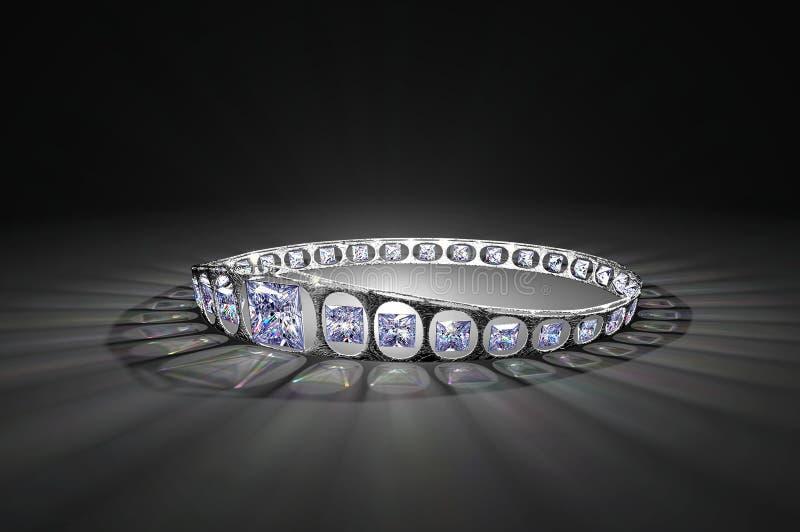 Princesa Cut Diamond Crown fotos de stock