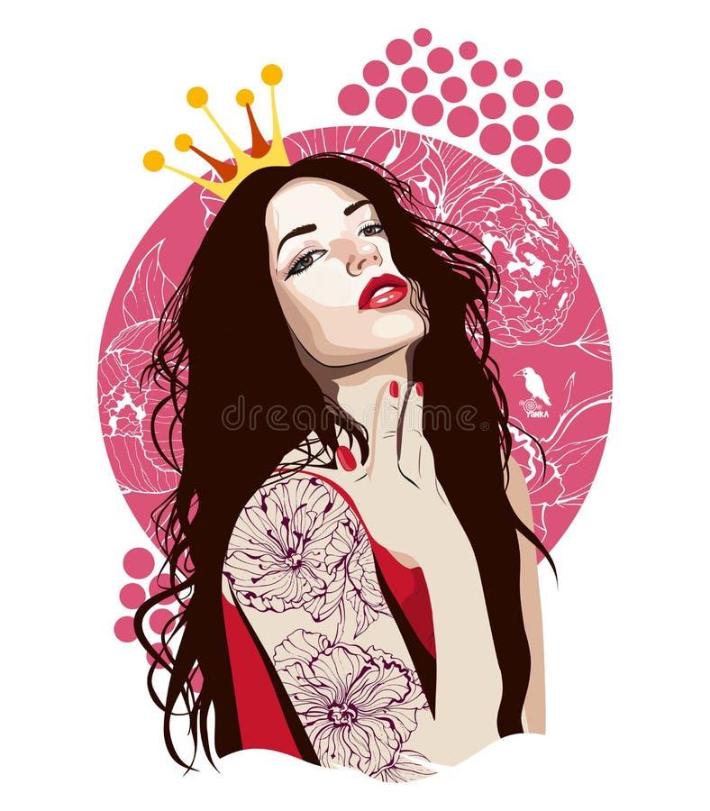 Princesa da menina imagens de stock royalty free