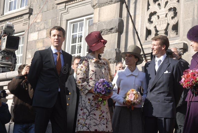 PRINCESA DE COROA MARY DE DINAMARCA E PRÍNCIPE FREDERIK imagens de stock royalty free