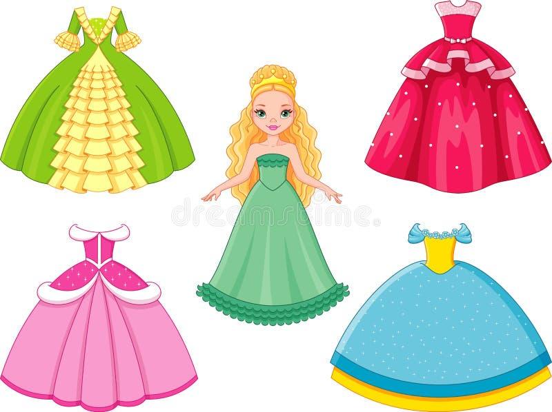 Princesa de la muñeca stock de ilustración