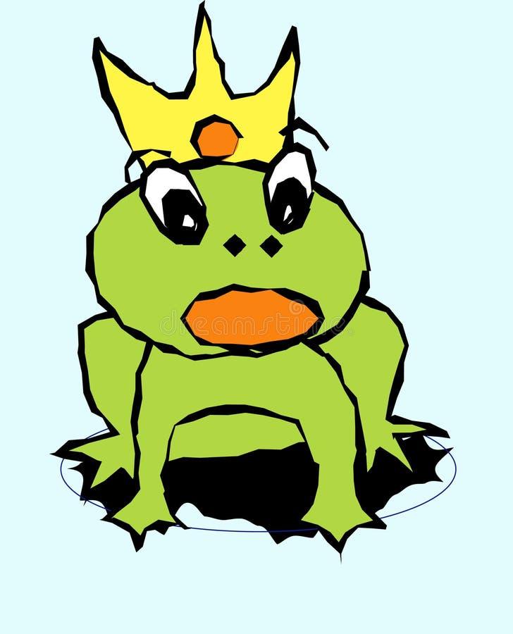 Princesa de la rana stock de ilustración