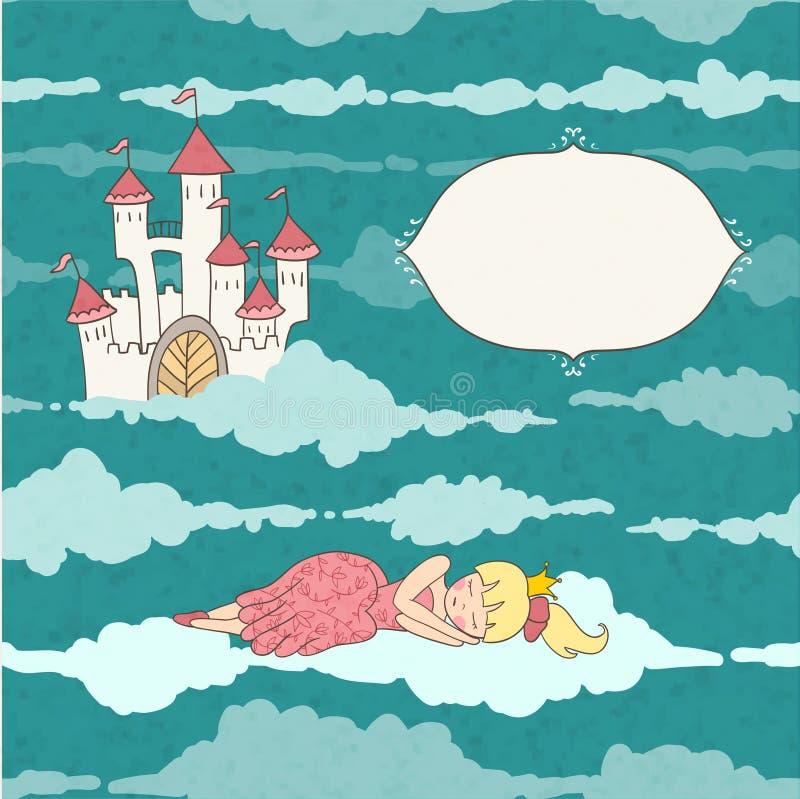 Princesa de sono ilustração do vetor