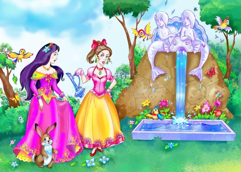 Princesa del cuento DE HADAS stock de ilustración