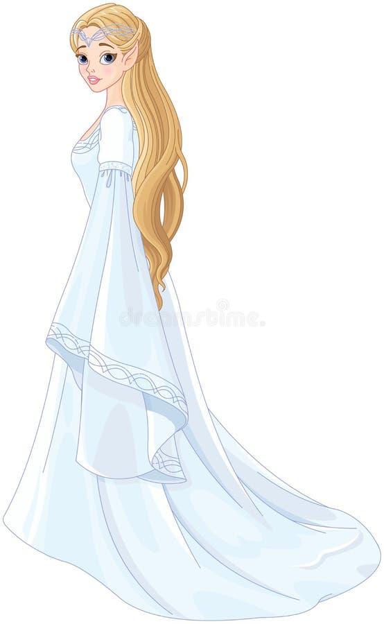 Princesa del duende del estilo de la fantasía stock de ilustración