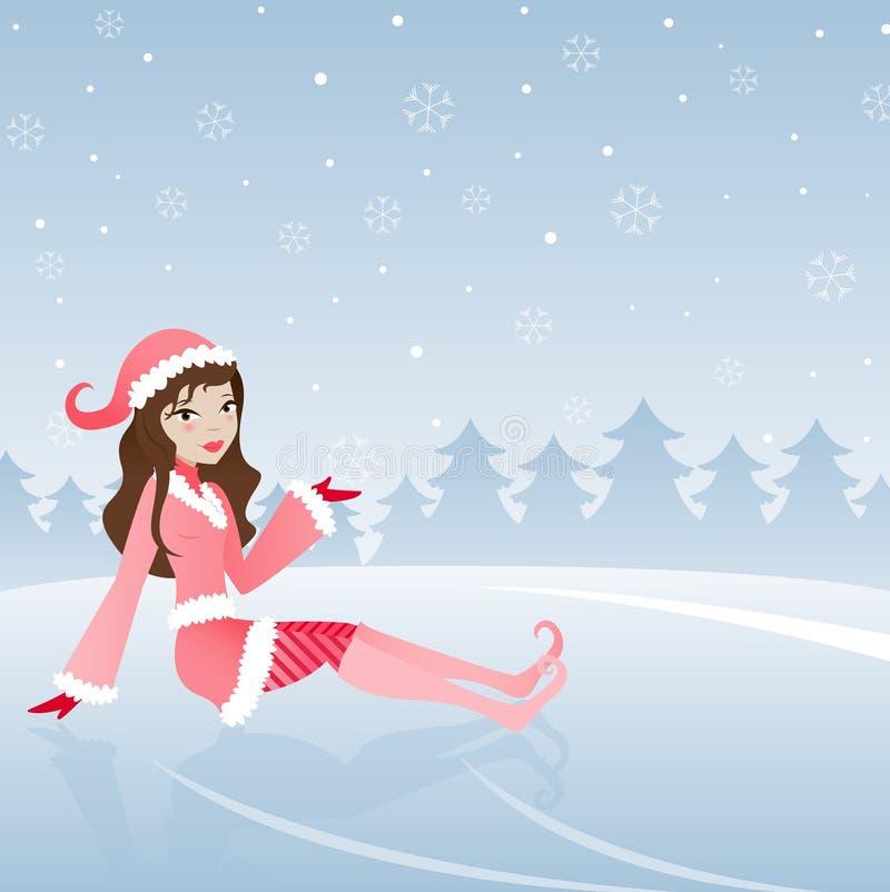 Princesa del hielo stock de ilustración