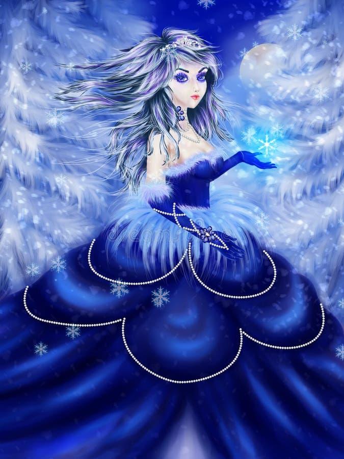 Princesa del invierno ilustración del vector