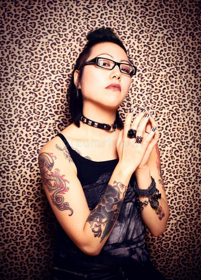 Princesa del tatuaje fotografía de archivo libre de regalías
