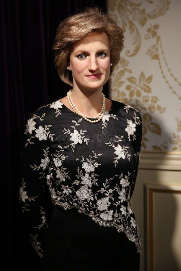 Princesa Diana de la estatua de la cera de País de Gales imagen de archivo libre de regalías
