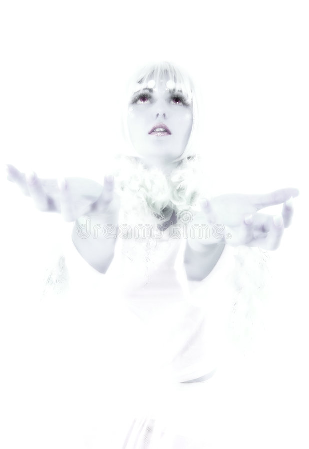 Princesa do gelo fotografia de stock