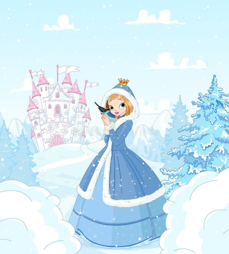 Princesa do inverno ilustração royalty free