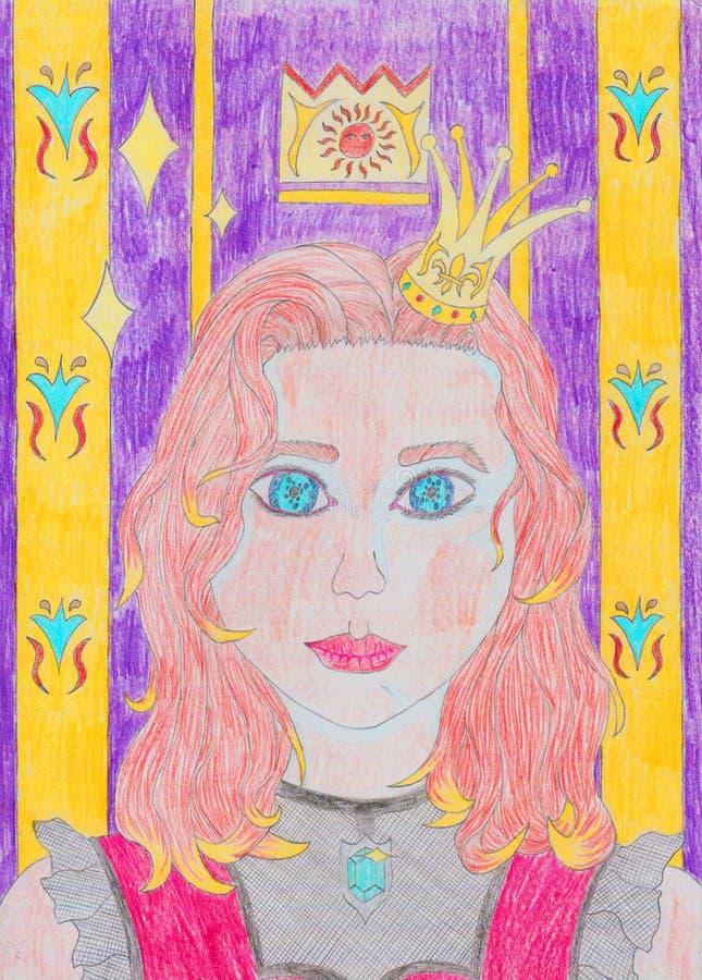 Princesa do pop art ilustração royalty free