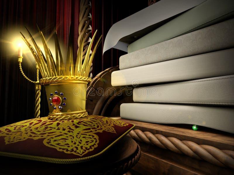 Princesa e a ervilha ilustração stock