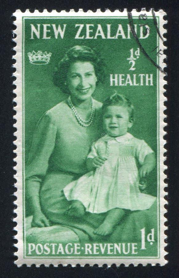 Princesa Elizabeth com sua mãe fotos de stock