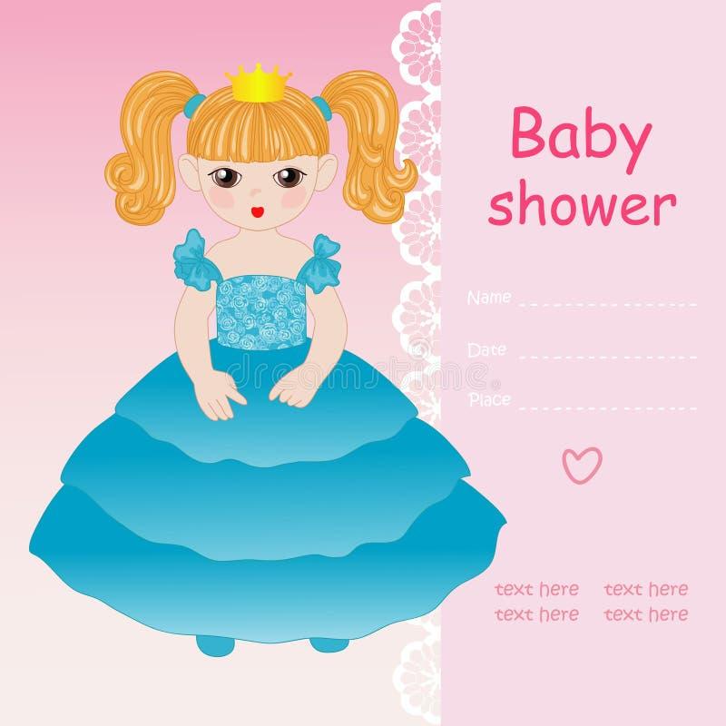 Princesa en alineada azul libre illustration