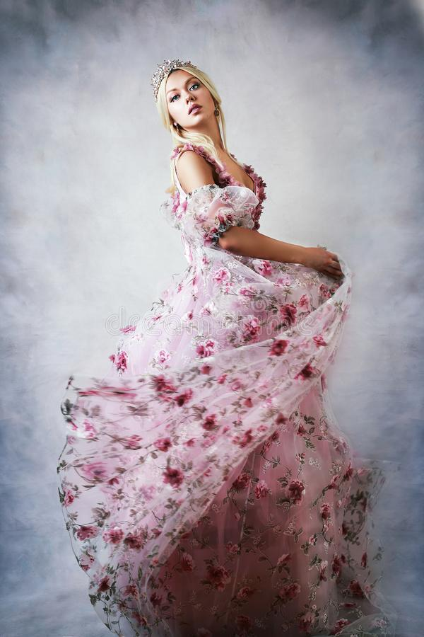 Princesa en color de rosa fotografía de archivo libre de regalías