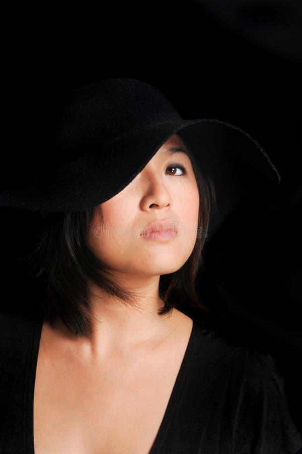 Princesa en negro imagen de archivo libre de regalías