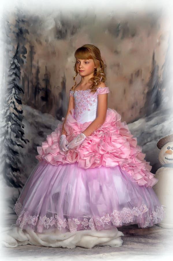 Princesa en un vestido rosado foto de archivo libre de regalías