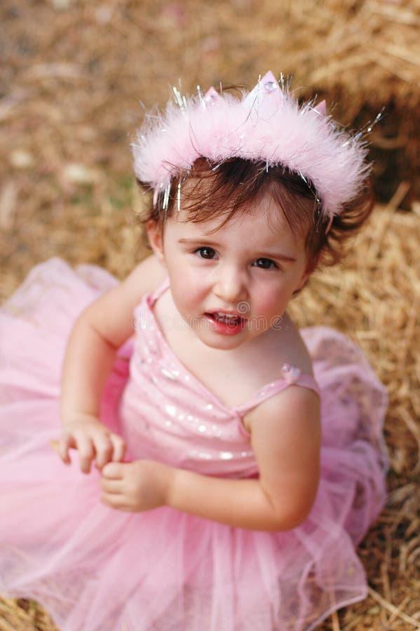 Princesa feericamente que olha acima fotografia de stock