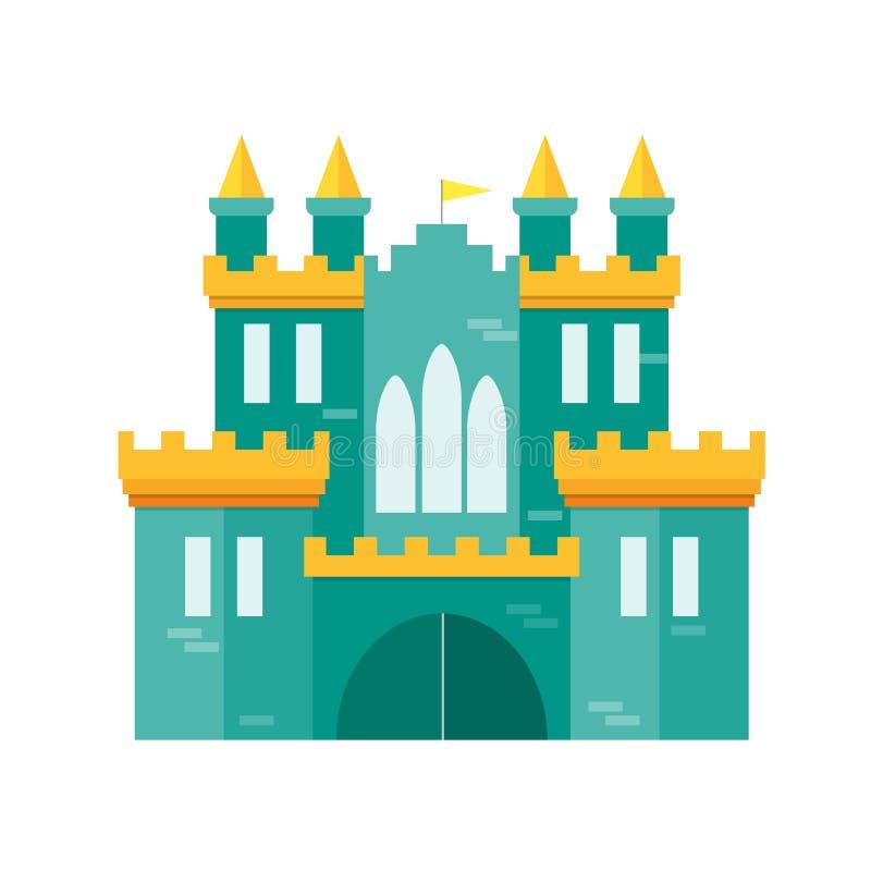 Princesa Flat Design Style do castelo Vetor ilustração stock