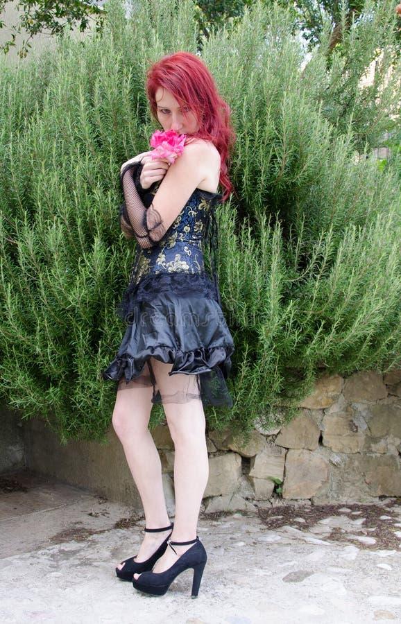 A princesa gótico com aumentou imagens de stock