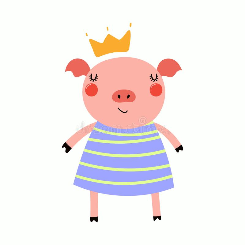 Princesa guarra linda libre illustration