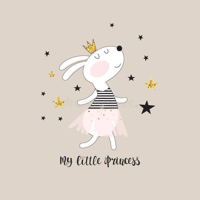 Princesa linda del conejito stock de ilustración