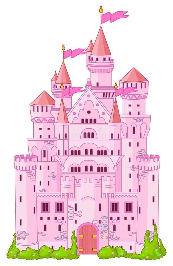 Princesa mágica castillo ilustración del vector